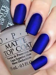 Nails blue simple cool