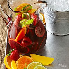You'll earn major presentation points with this red wine sangria stuffed with your choice of fruit. You'll earn major presentation points with this red wine sangria stuffed with your choice of fruit. Fruity Sangria Recipe, Red Sangria Recipes, Strawberry Sangria, Red Wine Sangria, Wine Cocktails, Cocktail Recipes, Drink Recipes, Punch Recipes, Brandy Sangria