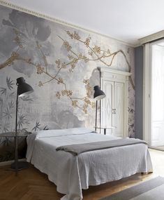 45 super Ideas for wall paper art deco modern Home Decor Bedroom, Bedroom Wall, Stencil Painting On Walls, Distressed Walls, Indian Home Interior, Wall Wallpaper, Interior Design Living Room, Wall Design, Architecture