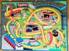 Toy Car Mat Carpet Kids Rug City Hot Wheels  Road Fun Play  #Unbranded #KidsRugs Car Mats, Circle Time, Baby Birthday, Hot Wheels, Carpet, Kids Rugs, Wonderful Things, Toys, City
