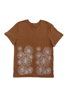 Flower Power: Hand Printed 100% Organic Cotton Original Mushpa + Mensa Design Bronze T-Shirt #flowers #flowerpower #organiccotton #lesbianowned #alternativeapparel #mushpamensa #mushpaymensa #mushpa #mensa #freehand #organic #flower #magic Dried Lavender Flowers, Custom Fonts, Silk Screen Printing, Recycle Plastic Bottles, Alternative Outfits, White Ink, Cotton Tee, Flower Power, Organic Cotton