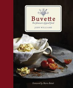Buvette: The Pleasure of Good Food by Jody Williams,http://www.amazon.com/dp/1455525529/ref=cm_sw_r_pi_dp_ocRvtb0Z2M0GG799