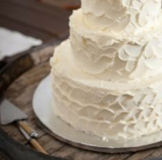 Johnny & Bree's wedding - pumpkin cake with salted caramel filling + apple cake with salted caramel filling + white chocolate buttercream