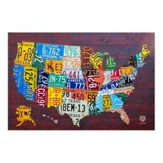 License Plate Map of the United States 2012 Ed. 1 Poster by designturnpike. 50% off till midnight tonight (6/22), use code HRFORPOSTERS !!!