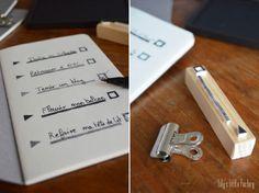 """Lily's Little Factory: Carnet """"Do It Book"""" avec des tampons DIY [Pour Les Gens Qui Font Des Listes]"""