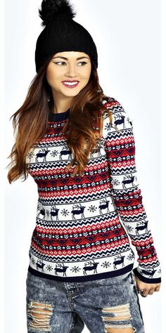 boohoo Bea Reindeers Fairisle Xmas Jumper - navy azz16802 Go back to nature with your knits this season and add animal motifs to your must-haves. When youre not wrapping up in woodland warmers, nod to chunky Nordic knits and polo neck jumpers in peppered mar http://www.comparestoreprices.co.uk/womens-clothes/boohoo-bea-reindeers-fairisle-xmas-jumper--navy-azz16802.asp