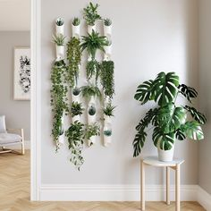 Our Floralink Planters are made from durable plastic in easy-to-hang sizes. The vessels link together, allowing you to tell a story through your flowers and greenery. Plant Wall Decor, House Plants Decor, Bedroom Plants Decor, Diy Wall Planter, Plant Rooms, Fake Plants Decor, Plant Aesthetic, Aesthetic Rooms, Plantas Indoor