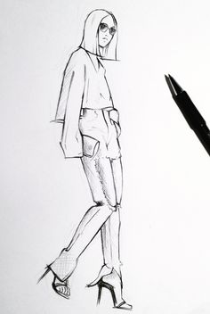 Fashion illustration - chic fashion sketching