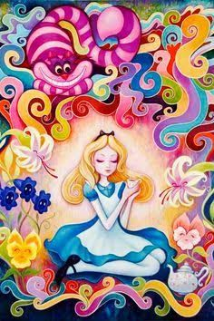 Resultado de imagen para alice in wonderland psychedelic