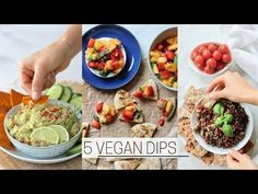 QUICK VEGAN DIPS » healthy + easy - YouTube