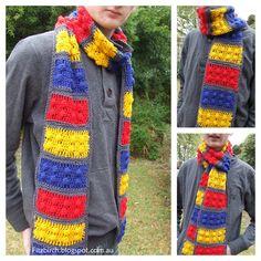 Lego Brick Crochet Scarf