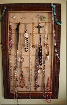 Make a Bigger Spot for Jewelry with this DIY Jewelry Organizer  www.findinghomeonline.com
