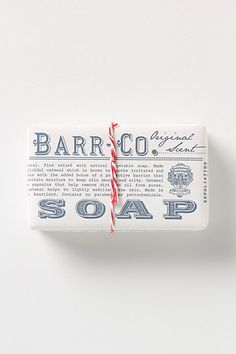 Barr-Co. Soap Bar #anthropologie
