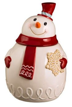 Grasslands Road Sweet Tidings Snowman Cookie Jar, 11-Inch by amscan - kitchen, http://www.amazon.com/dp/B009P1VT1E/ref=cm_sw_r_pi_dp_DIT-qb0W91QYN
