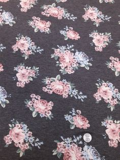 43dd68fcc7a For Joggers 3-4 yards - Image of Pink & Blue Floral Grey french terry