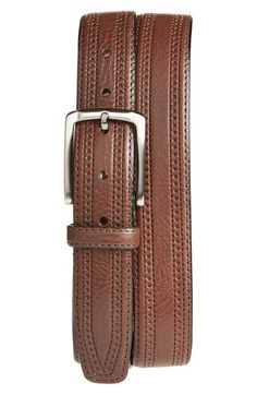 Free shipping and returns on Trafalgar 'Hatcher' Leather Belt at Nordstrom.com. Smart brogue details enrich an Italian-crafted belt shaped from well-grained leather for eye-catching texture.