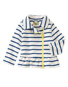 Striped Peplum Fleece Jacket at Gymboree