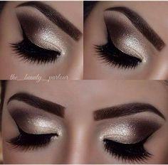Golden Smokey Eye Makeup Tutorial von Lisa Eldridge - Make-up Kiss Makeup, Cute Makeup, Gorgeous Makeup, Pretty Makeup, Hair Makeup, Awesome Makeup, Night Makeup, Eyeliner Makeup, Makeup Brush