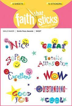 Smile Face Awards Faith That Sticks stickers