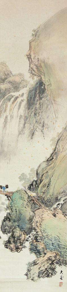 Landscape by Komura Taiun 小村大雲 (1883-1938).