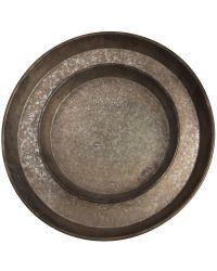 Antique Galvanised Trays - set of 2 – 2 Find and Design