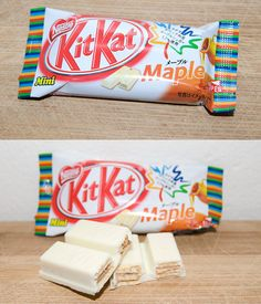 Maple Syrup flavour Kit Kat - Japan why isn't this flavor in Japan Japanese Snacks, Japanese Candy, Japanese Sweets, Chocolate Brands, Chocolate Shop, Japanese Kit Kat Flavors, Kit Kat Bars, Asian Snacks, Aesthetic Food