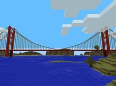 21 Locations Amazingly Recreated In Minecraft Minecraft Bridges, Minecraft City Buildings, Minecraft Plans, Minecraft Tutorial, Minecraft Designs, Minecraft Houses, Minecraft Stuff, Minecraft Awesome, Minecraft Architecture
