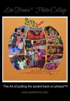 Cute shape for Disney Halloween pictures. (Photo Collage created by Nicole, Lea France Designer using Magical Sphere Stencil.)