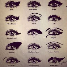 Model your eyeliner after fashion models. Catwalk makeup tricks tips hacks #ZenDivaSpa