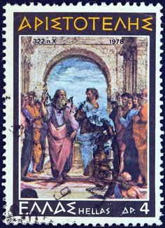 Aristotle, Kids Soccer and Happiness - Soccer Mastermind Best Philosophers, School Of Athens, Western Philosophy, Postage Stamp Collection, Postage Stamp Art, Kids Soccer, Stamp Collecting, Book Worms, Street Art
