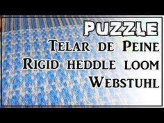 Telar de Peine Punto PUZZLE Pattern Rigid Heddle Loom Hand Webstuhl Muster Lana Wolle - YouTube