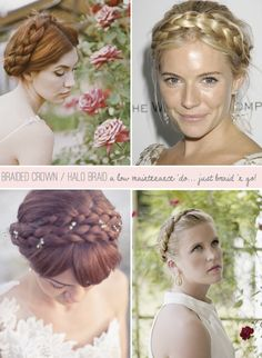 DIY Braided Crowns / Halo Braids For Brides