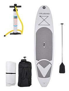 Vilano ano Journey Inflatable SUP Stand up Paddle Board Kit - Board, Pump, Paddle & Bag Dirt Bikes For Kids, Kids Roller Skates, Inflatable Sup Board, Best Baby Car Seats, Cruiser Skateboards, Sup Stand Up Paddle, Sport Atv, Canoe Camping, Paddle Boarding