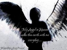 Heaven in Her Arms Alex Cherry Surreal Art Print Dark Angel Wings Poster
