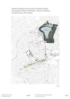 Masterplan para integração de Parques Urbanos.