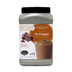 Try our #FitFrappe #Mocha Protein Drink Mix with a little salted caramel for a #DIY fall favorite.