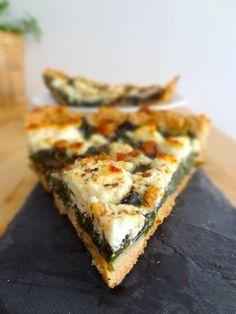Tarte aux épinards, chèvre, miel et noix - pâte maison - super blog!