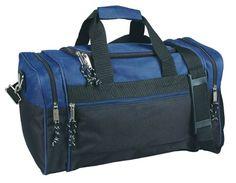 Medium Duffle Bag Duffel Bag in Black and Navy Blue Gym Bag DALIX http   579a88ae2175d