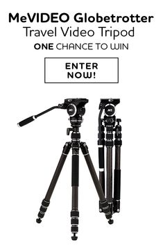 Enter to win a MeVIDEO Travel Tripod. Take Your Filmmaking to the Next Location with MeVIDEO Flexible Travel Tripod -- it is up on Kickstarter now but you can win one!