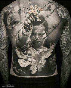 Pin by 煒達 鄭 on tatoo Backpiece Tattoo, Et Tattoo, Tattoo Henna, Tattoo Drawings, Sketch Tattoo, Badass Tattoos, Great Tattoos, Beautiful Tattoos, Body Art Tattoos