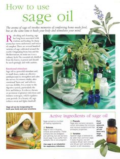Mind, Body, Spirit Collection - How To use Sage Oil