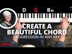 Create a Beautiful Piano Chord Progression in Any Key Piano Chord, Piano Music, Music Wall, Sheet Music, Music Chords, Music Songs, Gospel Music, Music Stuff, Piano Lessons