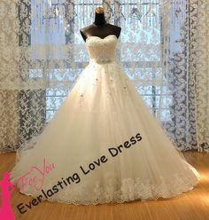 2014 Free Shipping vestidos de noivas Long Sequin Real Photo Wedding Dresses Plus Size Bridal Gowns $159.00+55