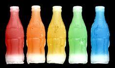 Juice in wax bottles