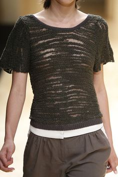 Textured top with an earthy palette designed by Sita Murt  from her 'Bloom' SS15 Collection. 080 Barcelona fashion Week. Catalonia | Europe.