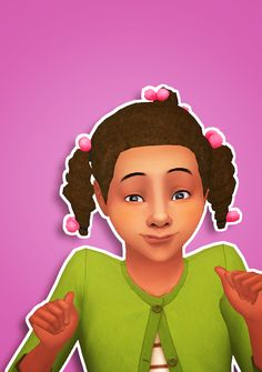 The Sims 4   ddeathflower Generations Braids Thick Hairstyle 3t4 Conversion in Pixelswirl's Pooklet Overhaul colors   natural hairs for female child & adult