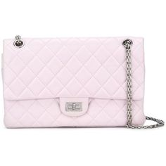 Chanel Vintage quilted shoulder bag (375.030 RUB) ❤ liked on Polyvore featuring bags, handbags, shoulder bags, chanel, pink, quilted shoulder bag, pink leather purse, chanel shoulder bag, chanel handbags and leather purses