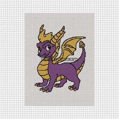 Welsh Dragon Free Crochet Pattern : Welsh dragon flag crochet pattern graph afghan Shops ...