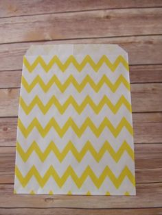Yellow Chevron Treat Bag