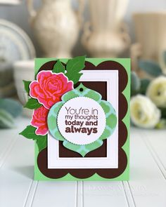 You're In My Thoughts Card by Dawn McVey for Papertrey Ink (July 2018)